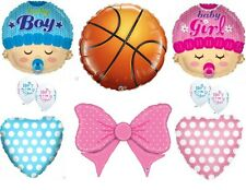 Free Throws or Cheer Bows Gender Reveal Balloons Decoration Supplies Baby Shower