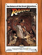 TIN-UPS Tin Sign Raiders Of The Lost Ark Vintage Movie Art Poster Indiana Jones