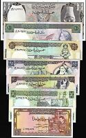 SYRIA SET 1 5 10 25 50 100 500 POUND 1991 UNC- P.93 100 101 102 103 104 105