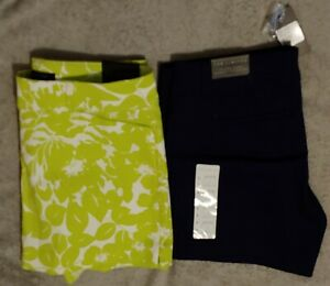 The Limited women's NWT lime green white Navy shorts 4 6 8 10 14