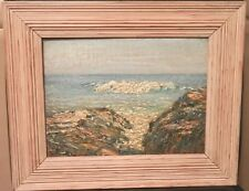 OLD antique Listed Artist Fine Art OIL PAINTING  Newcomb Macklin Picture Frame