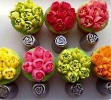 7piece RUSO Helado Glaseado Boquillas Puntas Flor Pastel Pasta de Azúcar