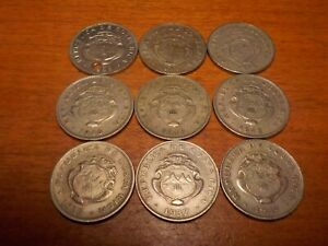 Mixed Lot of Circulated 50 Centimos Coins from Costa Rica