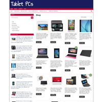 TABLET PCs UK WEBSITE WITH ONE YEARS HOSTING - FREE DOMAIN - ECOMMERCE BUSINESS