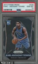 2015-16 Panini Prizm #328 Karl-Anthony Towns Timberwolves RC Rookie PSA 10