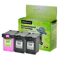 3PK Black & Color Ink cartridge combo For HP 63XL Officejet 3830 4650 All-in-One
