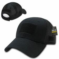 Black Tactical Operators Baseball Cap Low Crown Mesh Cotton Poly Baseball Hat