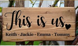 Personalised Family Sign Home-Sweet-Home  plaque Plate Gift Housewarming Names
