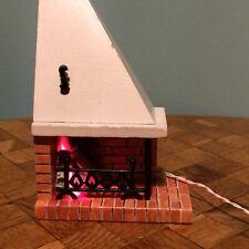 Kamin Lundby beleuchtet Puppenstube Puppenhaus 1:18 dollhouse fireplace