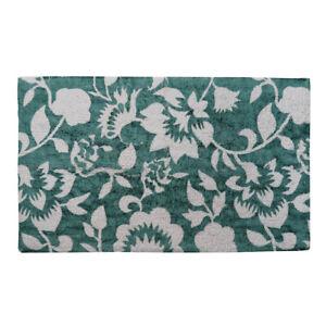 1b-Ware: Badematte FLOWER petrol grün weiß Blumenmuster Duschmatte 50x80cm