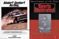 MICHAEL JORDAN 1991 SPORTS ILLUSTRATED COVER PROOF SPORTSMAN OF YEAR HOLOGRAM