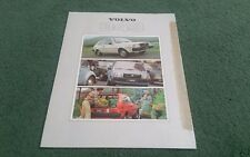 1979 VOLVO 343 UK FOLDER BROCHURE