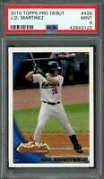 2010 topps pro debut #426 J.D. MARTINEZ boston red sox rookie card PSA 9