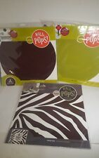 Wall POPS! Hot Chocolate, Green & Chocolate Zebra ~ Peel, Stick & Move ~ 14 pcs