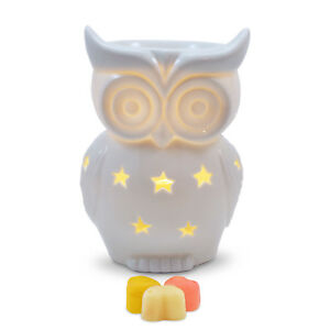Owlchemy Snowy Owl Electric wax burner with light and fragrant spring tarts