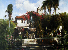 Mission Bell by Cyrus Afsary California Mission Fountain Open Editio Paper 20x28