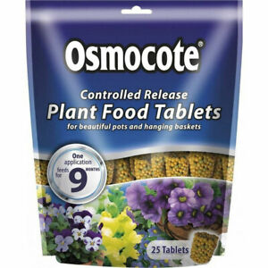 Scotts Osmocote Controlled Release Plant Food Tablets x 25 + 5 free 8-9 month