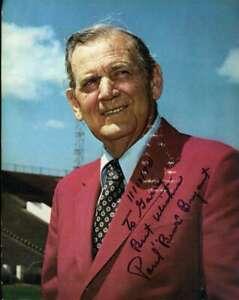 Paul Bear Bryant PSA DNA Coa Hand Signed 8x10 Crimson Tide Photo Autograph