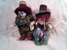 lot de 2 clowns - porcelaine - bon état --