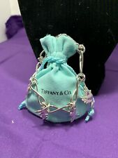 Vintage Tiffany & Co. Paloma Picasso 4 Charm Bracelet Dove Heart Kiss Scribble