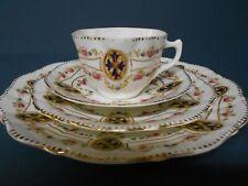 ANTIQUE VINTAGE WELLINGTON CHINA 4 PIECE TEA SET J.H.C&CO LONGTON ENGLAND