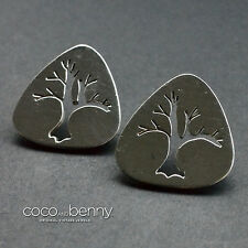 *Vintage MEXICAN Sterling Silver 925 TREE Cut Out Design EARRINGS Post