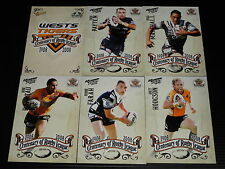 2008 NRL Select Centenary Team Set of 6 Cards West Tigers