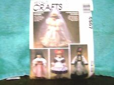 vintage doll dress patterns 13-16 in. doll includes wedding gown