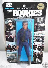 #3528 NRFC Vintage LJN TV's the Rookies Terry Action Figure on Black Card