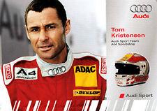 Tom Kristensen Audi Sport DTM Promo Card Very Rare,