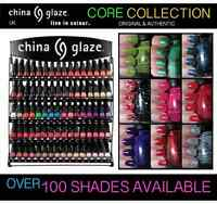 New CHINA GLAZE Nail Polish Varnish Art Colours Full Range Shade Pink Red Shades