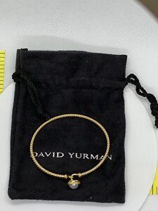 David Yurman Chatelaine  Bracelet 18K Gold with Pearls Retail $1,350.00+Tax