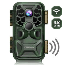 Campark T90 WIFI Wildkamera 4K Lite 24MP Bluetooth Jagdkamera Nachtsicht IR IP66