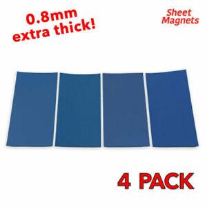 4 PACK | 200mm x 100mm BLUE Magnetic Labels | DIY Name Shelve Racking Label