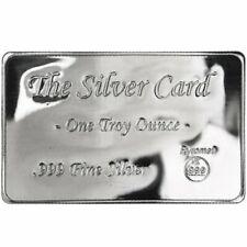 "The Silver Card 1 Troy Oz .999 Fine Pyromet ""Fits in Your Wallet"" Ingot Card"