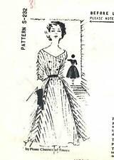 Vintage 1950s Spadea Pattern Womens DRESS S-232 Pierre Clarence Sz 10 B34 UNUSED