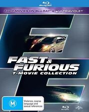 FAST and FURIOUS 1 - 7 Movie Collection : NEW Blu-Ray