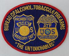 """Bureau of Alcohol, Tobacco, Firearms Patch """"THE UNTOUCHABLES"""" 5-1/2"""" X 4-1/2"""""""