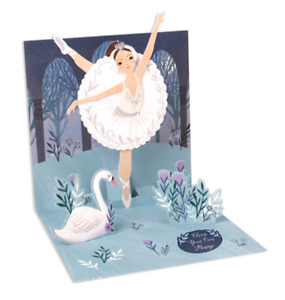 Up with Paper Pop Up Greeting Card - Swan Lake