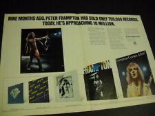 Peter Frampton Oversized 1976 Promo Poster Ad nine months ago to 10 Million