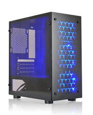 Shaw (Micro Hero) Black USB3.0 Blue LED M-ATX Tower Computer PC Case without PSU