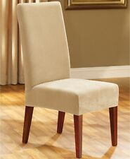 Sure Fit Dining Room Chair Slipcover Stretch Pique CREAM A02057