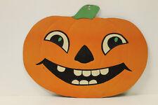 Vintage Halloween Pumpkin Jol Embossed Die Cut Usa Smiling