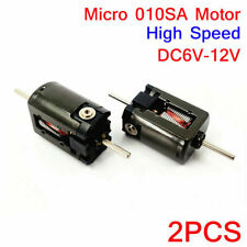 2PCS DC 6V-12V High Speed Dual Shaft 15mm Micro 010 Motor For Toy Car Rail Train