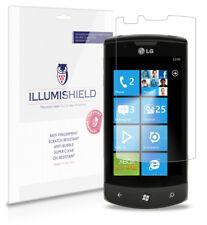 iLLumiShield Phone Screen Protector w Anti-Bubble/Print 3x for LG Optimus 7