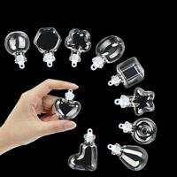 10pcs Glass Tiny Mini Wishing Bottles With Cork Stopper Wishing Message Vials
