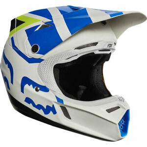 Fox Racing V3 Creo Off-Road MX Helmet White/Yellow Youth