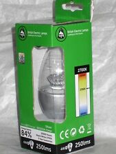 BELL LIGHTING * 4w LED CANDLE SES E14 CLEAR 05694 * WARM WHITE ( SILVER CAP )