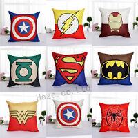 "Decorative Throw Pillow Case America Marvel Superhero Comic Cushion Cover 18"""