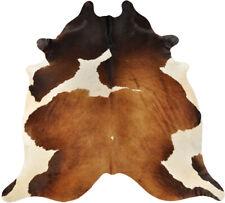 Peau de Vache Taureau Braun Blanc Tricolore 240 X 180 CM